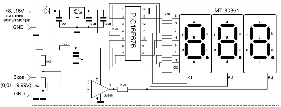 pic based digital voltmeter 100ma ammeter using avr microcontroller this loading effect of resistance based voltage divider is important as the current digital voltmeter using avr.